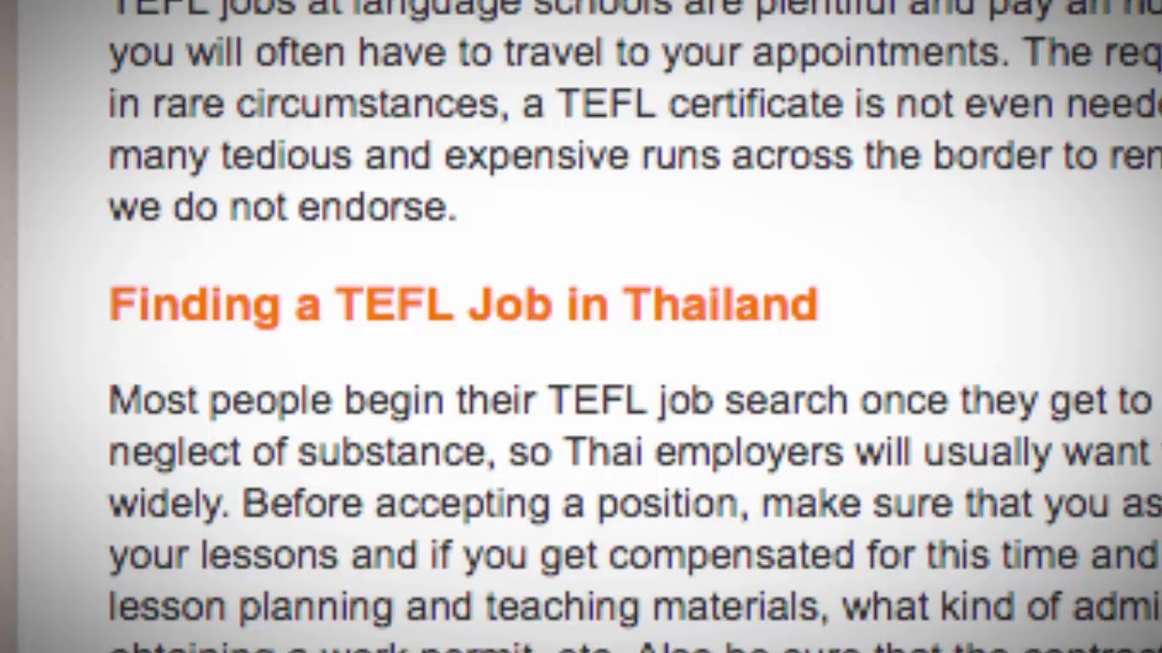 TEFL/TESOL Jobs in Thailand   International TEFL and TESOL Training (ITTT)