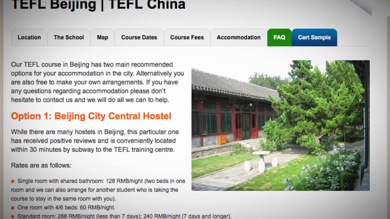 TEFL / TESOL School Accommodation in Beijing, China | Teach & Live abroad!