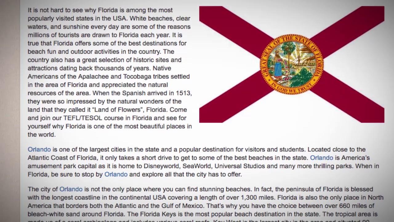 TEFL / TESOL Course in Florida   Teach & Live abroad!