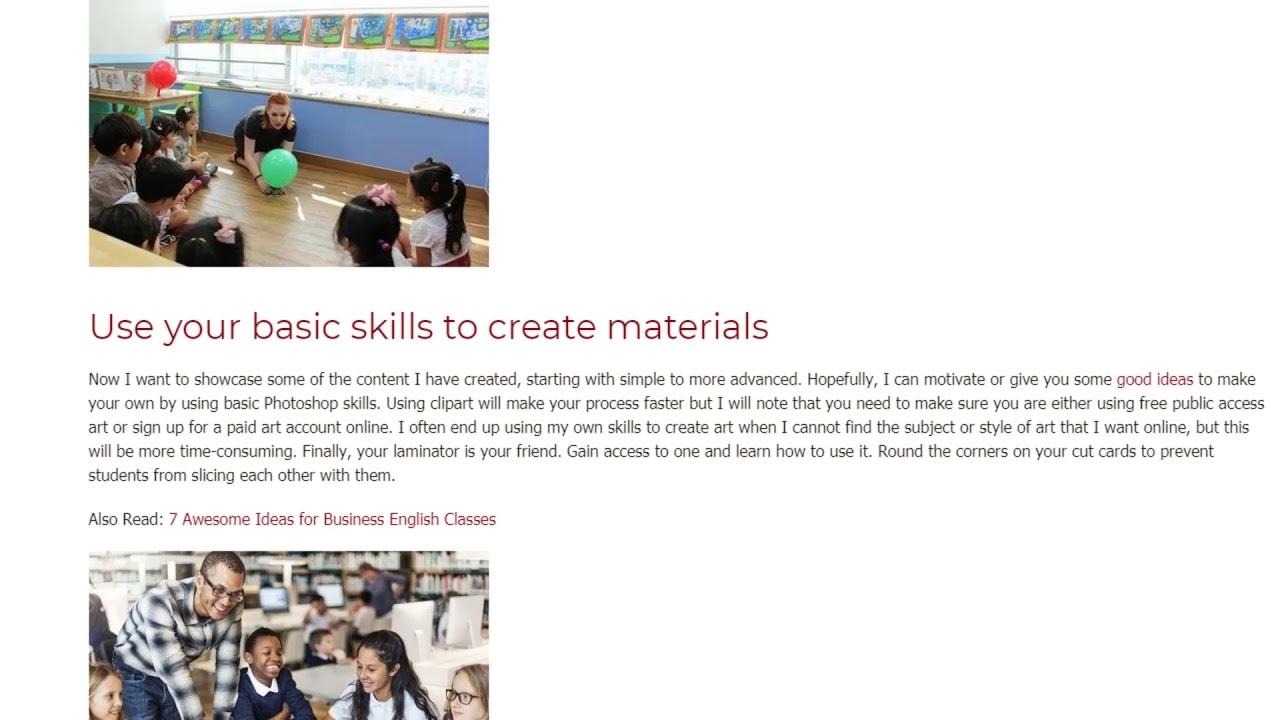 How To Create Interesting Teaching Materials | ITTT TEFL BLOG