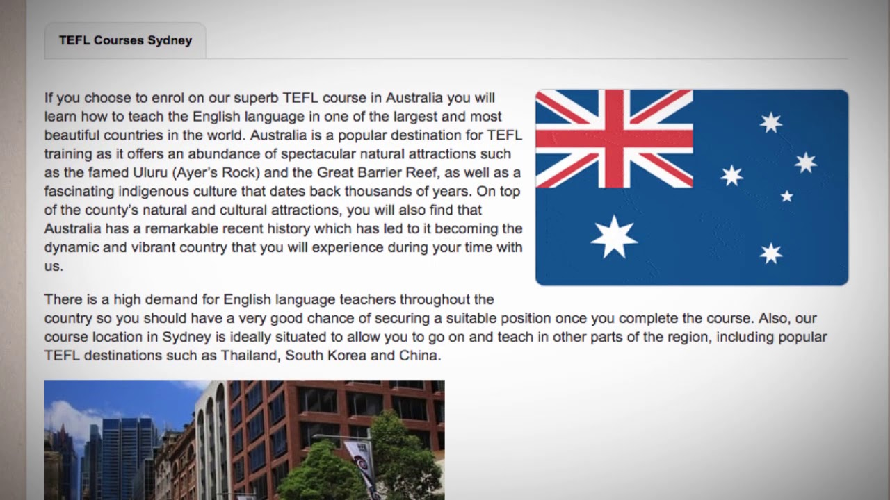 TEFL / TESOL Course in Australia | Teach & Live abroad!