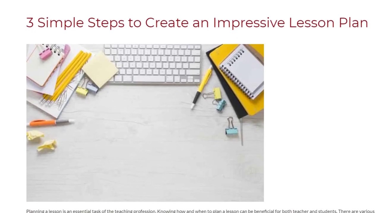 3 Simple Steps to Create an Impressive Lesson Plan   ITTT TEFL BLOG