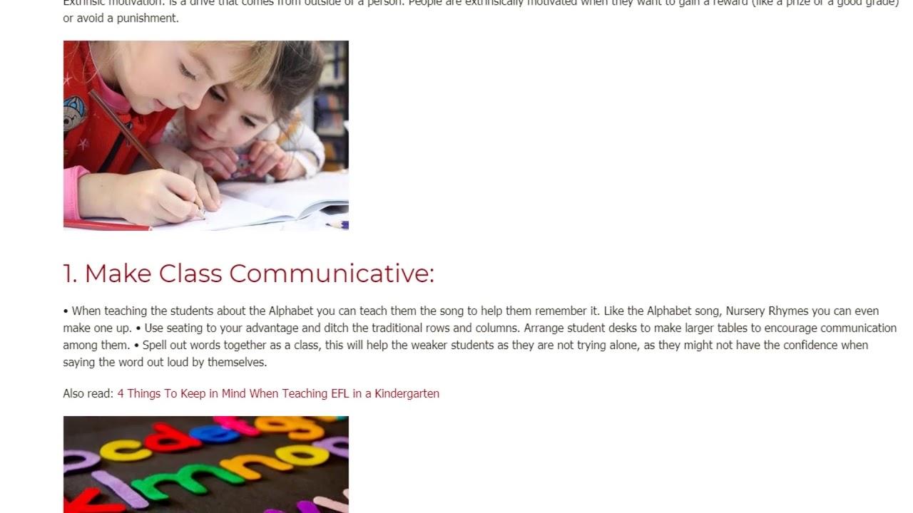4 Positive Ways to Motivate Students in the Kindergarten Classroom | ITTT TEFL BLOG