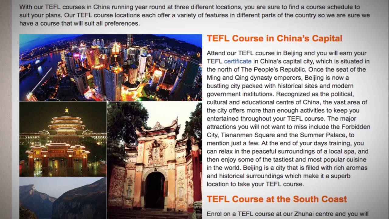 TEFL / TESOL Course in China | Teach & Live abroad!