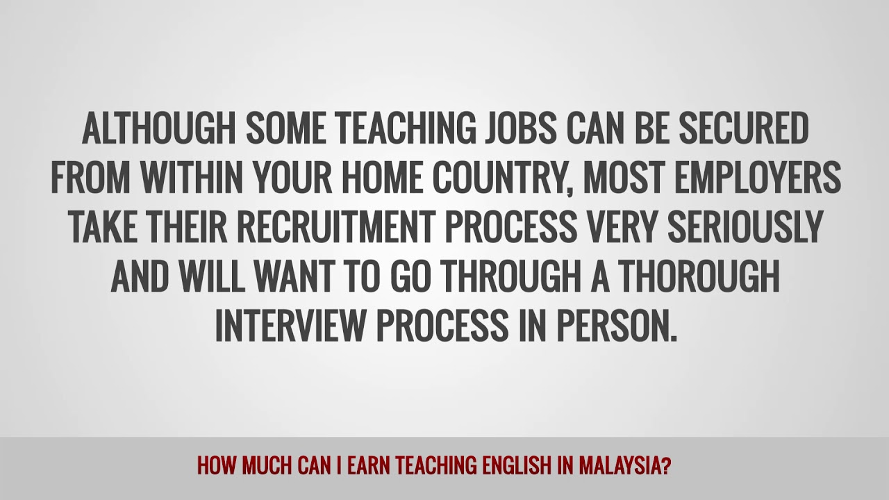 ITTT FAQs – How much can I earn teaching English in Malaysia?