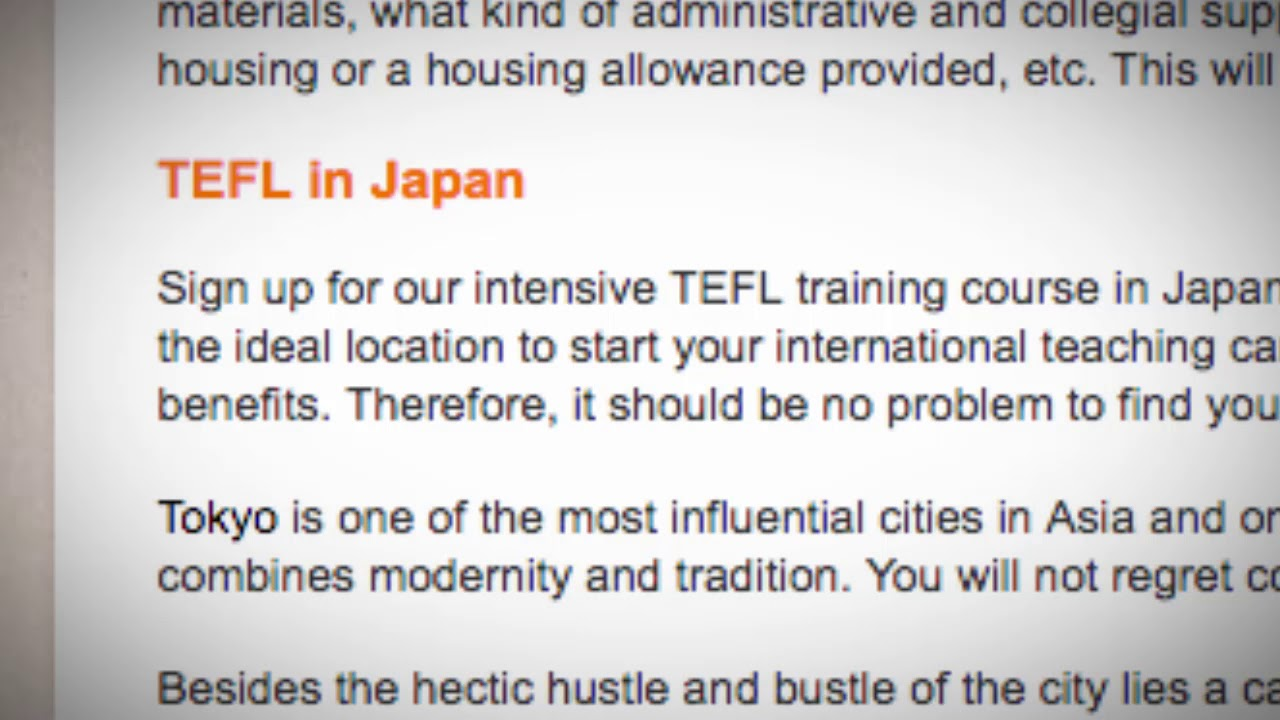 TEFL/TESOL Jobs in Japan | International TEFL and TESOL Training (ITTT)