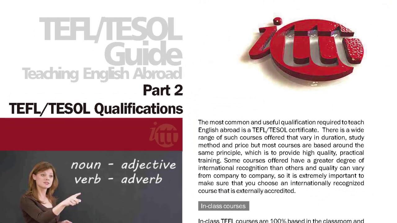 International TEFL and TESOL Training (ITTT)   The TEFL/TESOL Guide for Teaching English Abroad