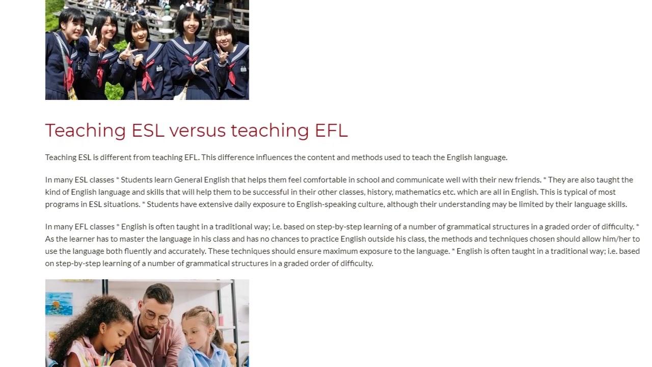 Teaching ESL vs. EFL – What's the difference? | ITTT TEFL BLOG