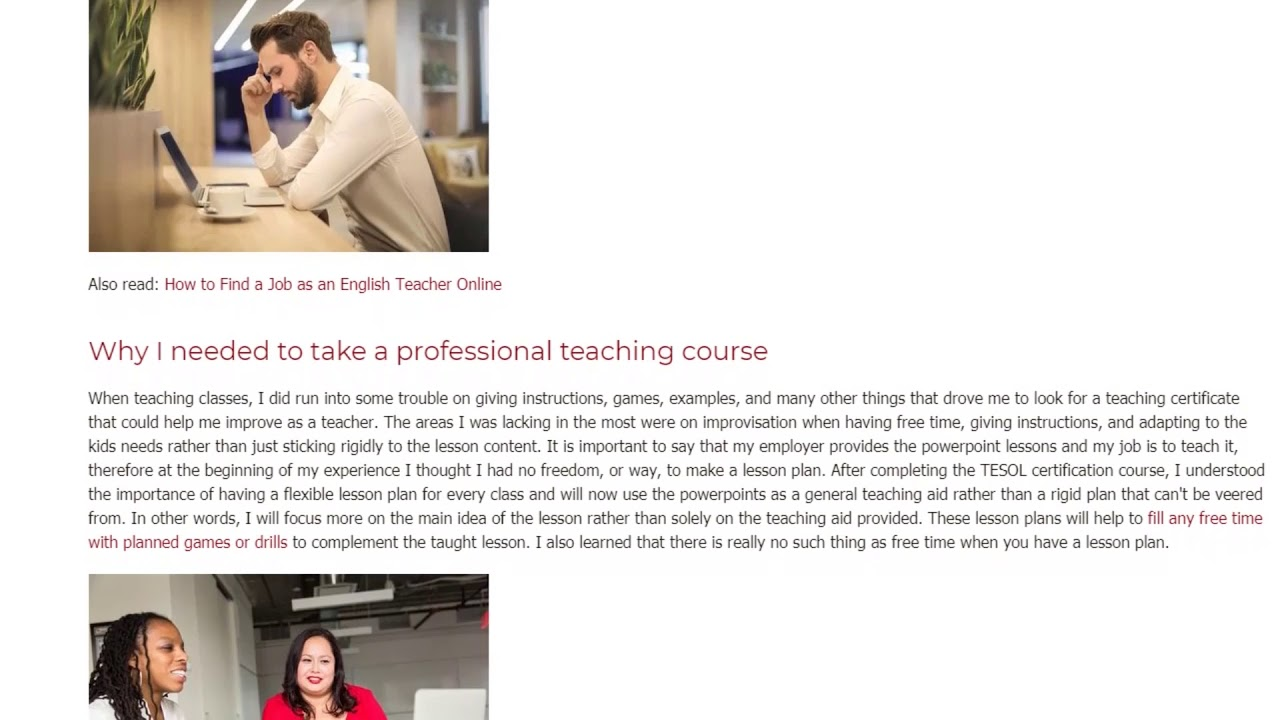 How Taking a TEFL Certification Course Has Improved My Online English Teaching | ITTT TEFL BLOG