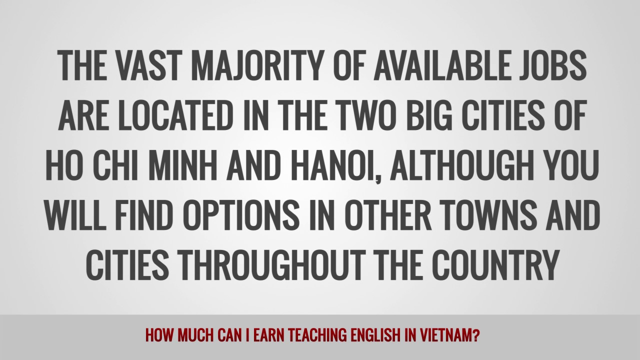 ITTT FAQs – How much can I earn teaching English in Vietnam?