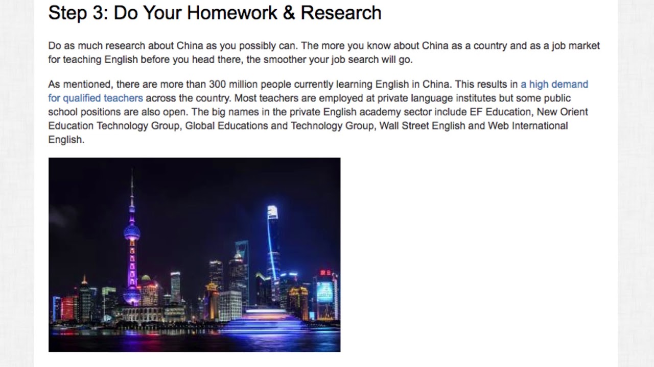 Step-By-Step Guide to Legally Teaching English in China