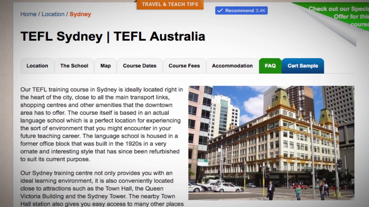 Welcome to Our TEFL / TESOL School in Sydney, Australia | Teach & Live abroad!