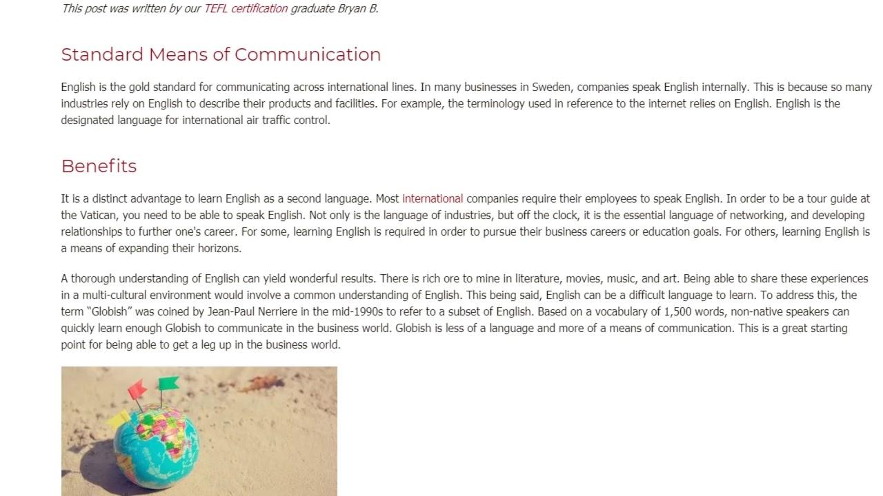 English as a Global Language   ITTT TEFL BLOG