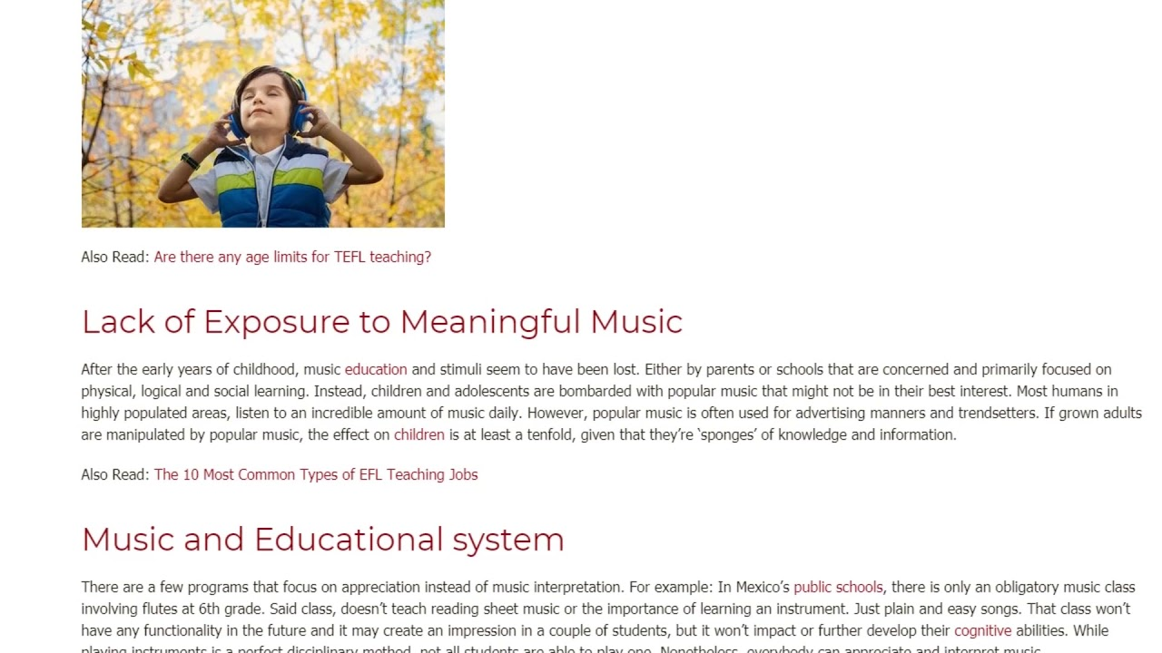 The Role of Music in an ESL Classroom | ITTT TEFL BLOG