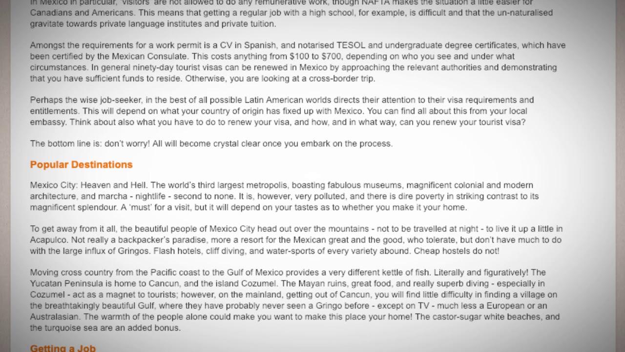 TESOL Jobs in Mexico   International TEFL and TESOL Training (ITTT)