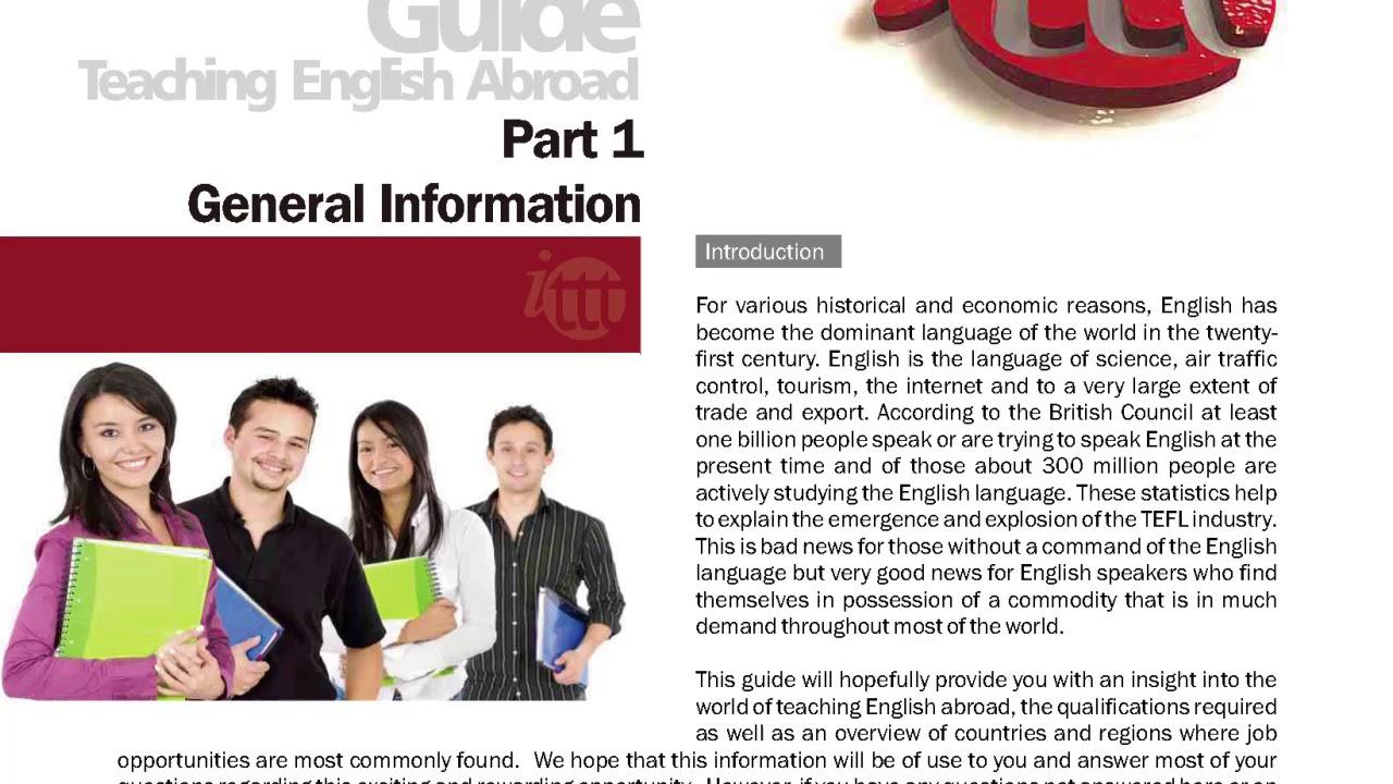 TEFL/TESOL Guide – General Information Part 1| International TEFL and TESOL Training (ITTT)