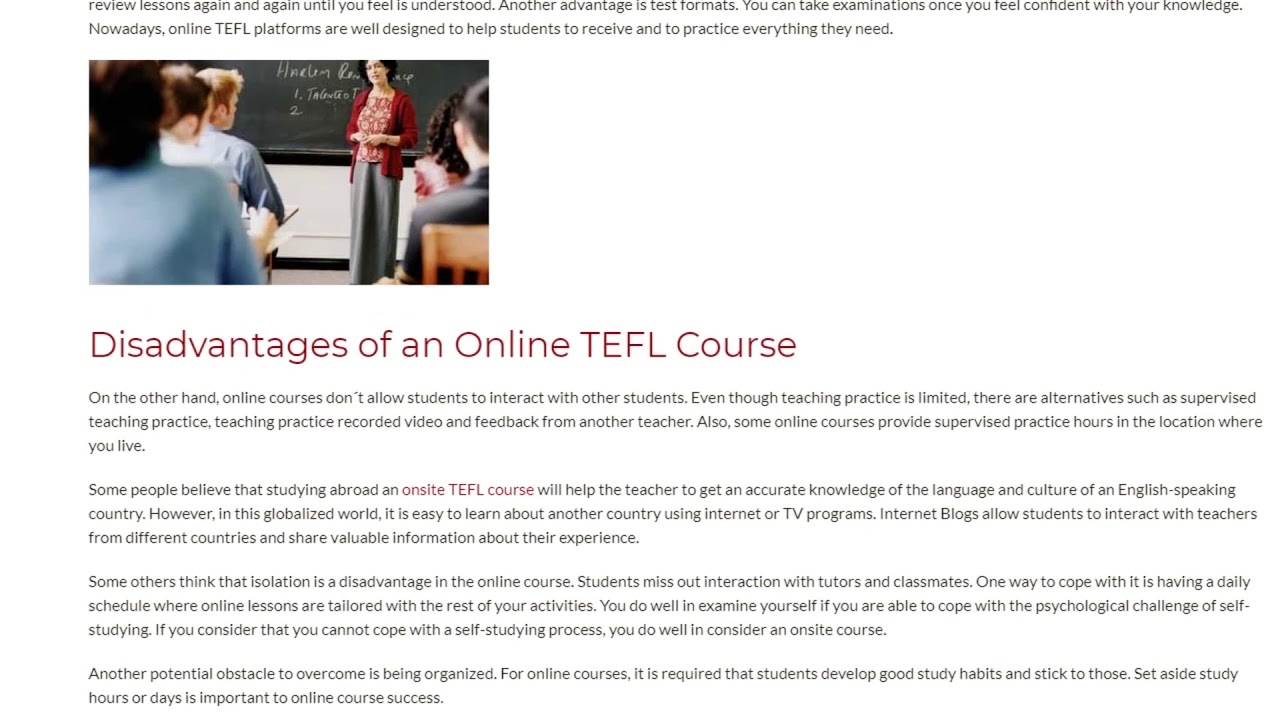 Pros and Cons of Online TEFL Courses | ITTT TEFL BLOG