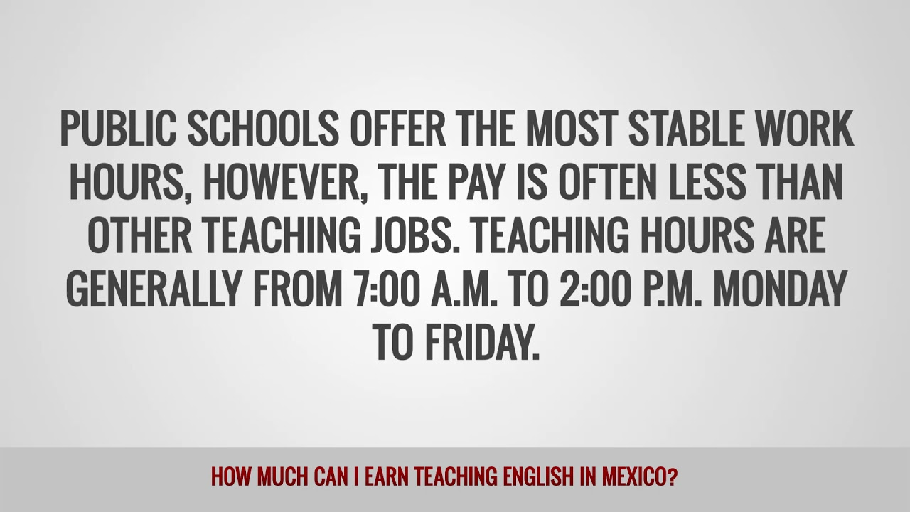 ITTT FAQs – How much can I earn teaching English in Mexico