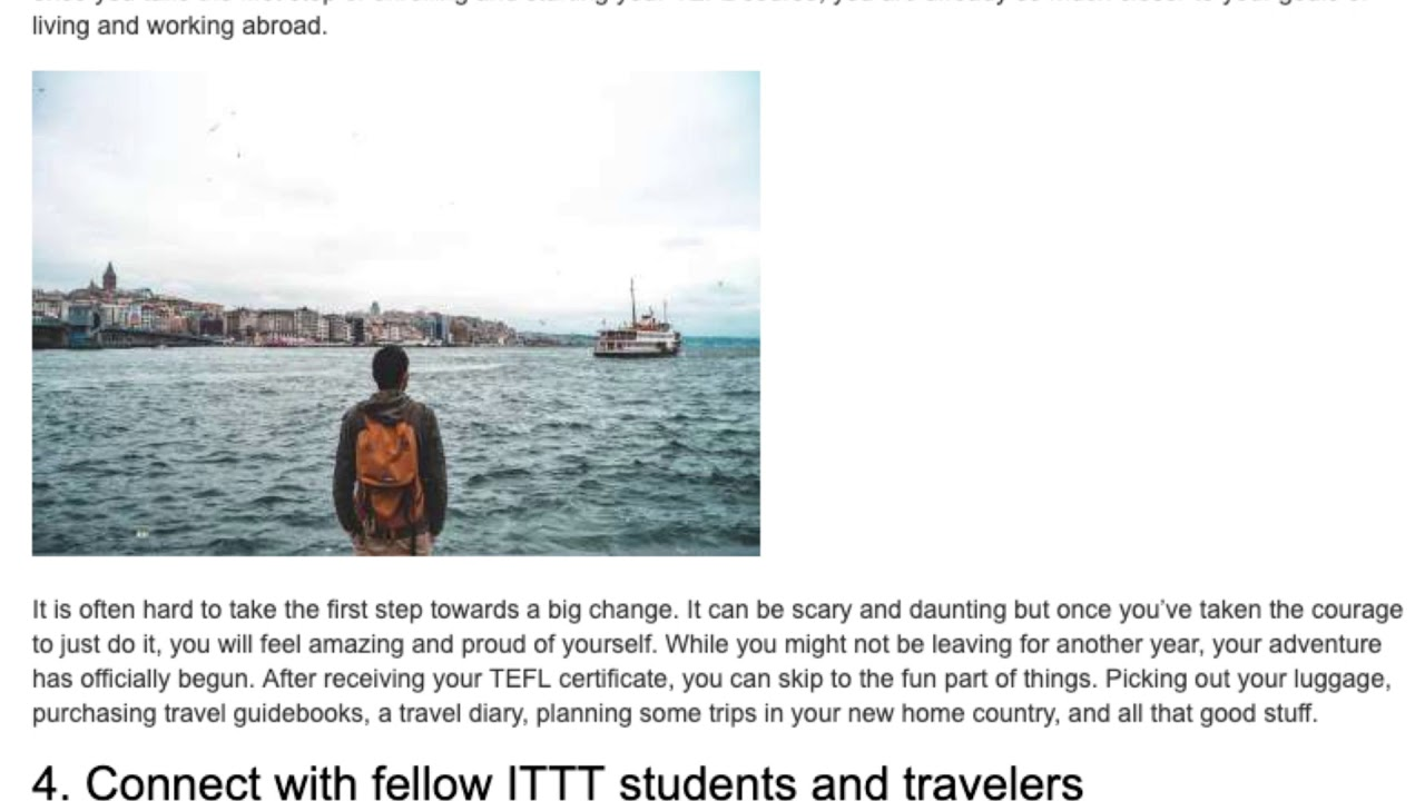 5 Reasons to Take a TEFL Course Right Now   Even If You Are Not Leaving Yet | ITTT TEFL BLOG