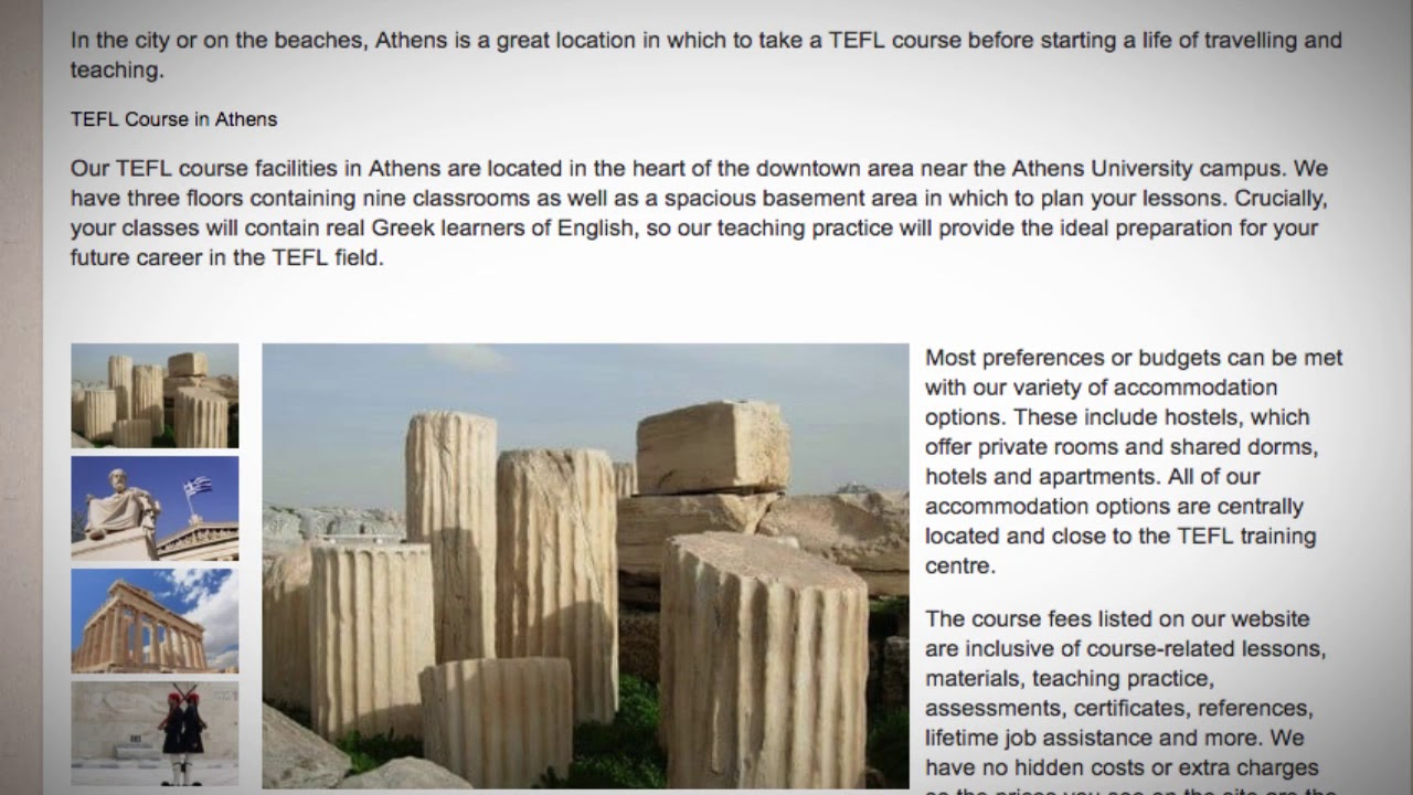 TEFL / TESOL Course in Athens, Greece   Teach & Live abroad!