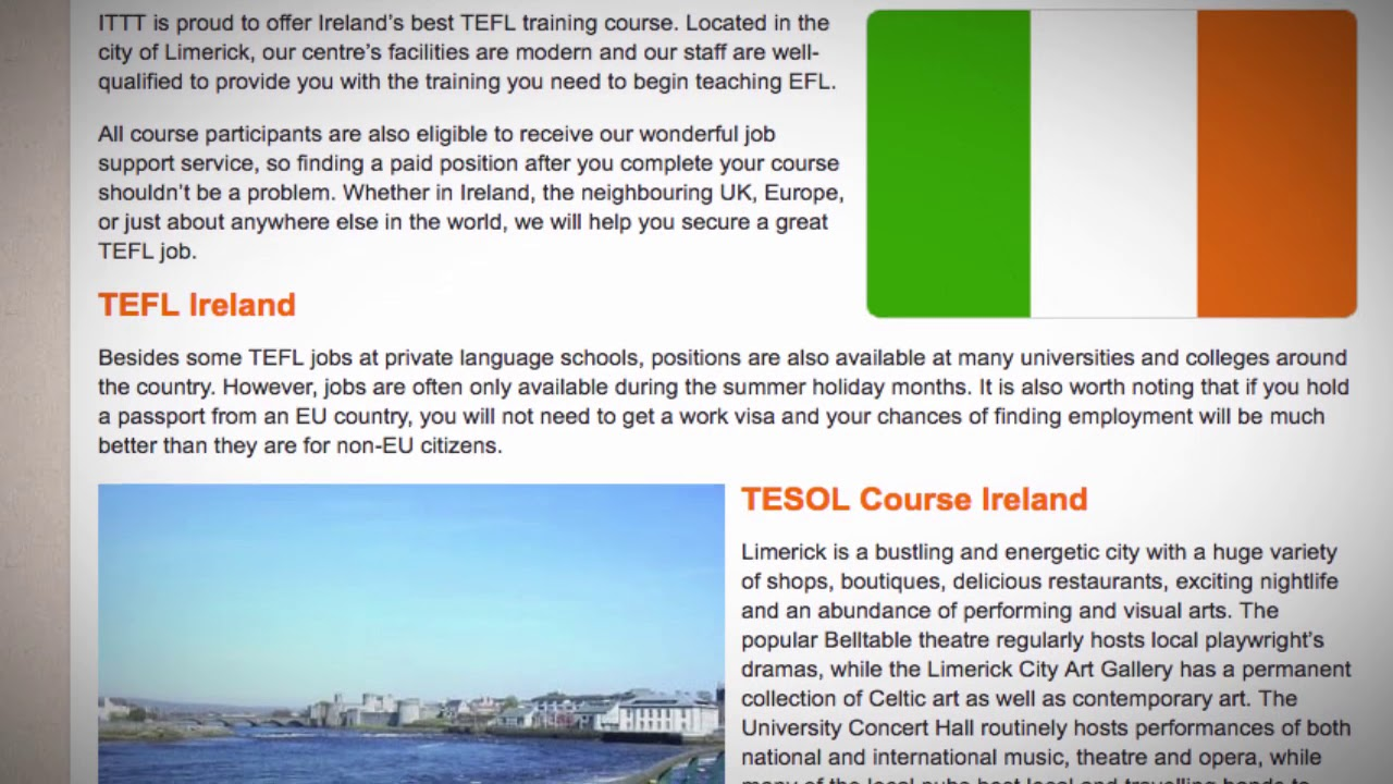 TEFL / TESOL Course in Ireland   Teach & Live abroad!