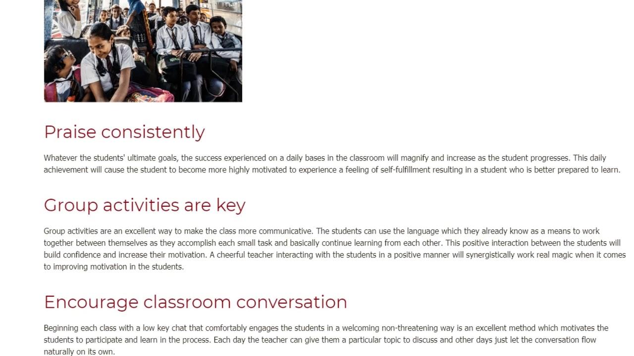 How an English Teacher Can Help Their Students Increase their Level of Motivation | ITTT TEFL BLOG
