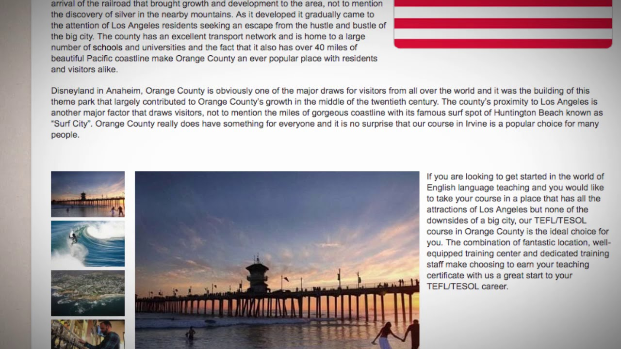 Combined TEFL / TESOL School in Orange County, USA | Teach & Live abroad!