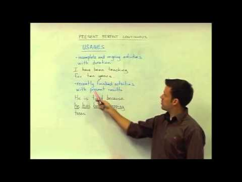 English Grammar — Present Perfect Continuous — Usage — TESOL Course