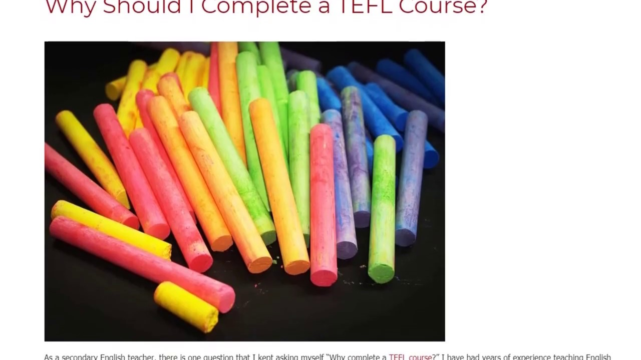 Why Should I Complete a TEFL Course | ITTT TEFL BLOG