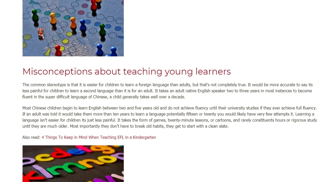 ESL Teaching To Young Learners – What are the Advantages | ITTT TEFL BLOG