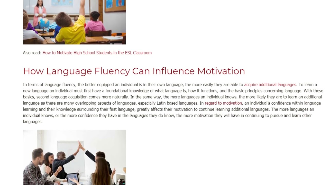 Motivation and the Language Learner – The Major Factors That Influence It | ITTT TEFL BLOG