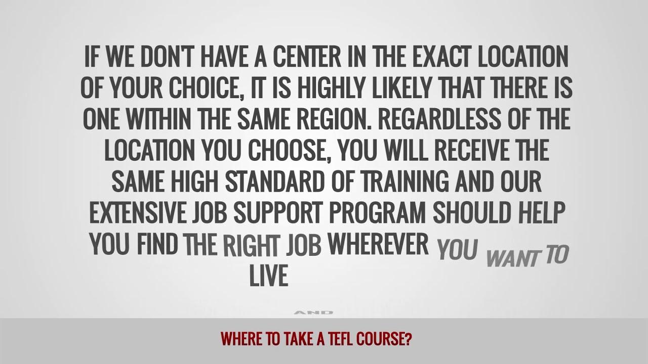 ITTT FAQs – Where to take a TEFL course?