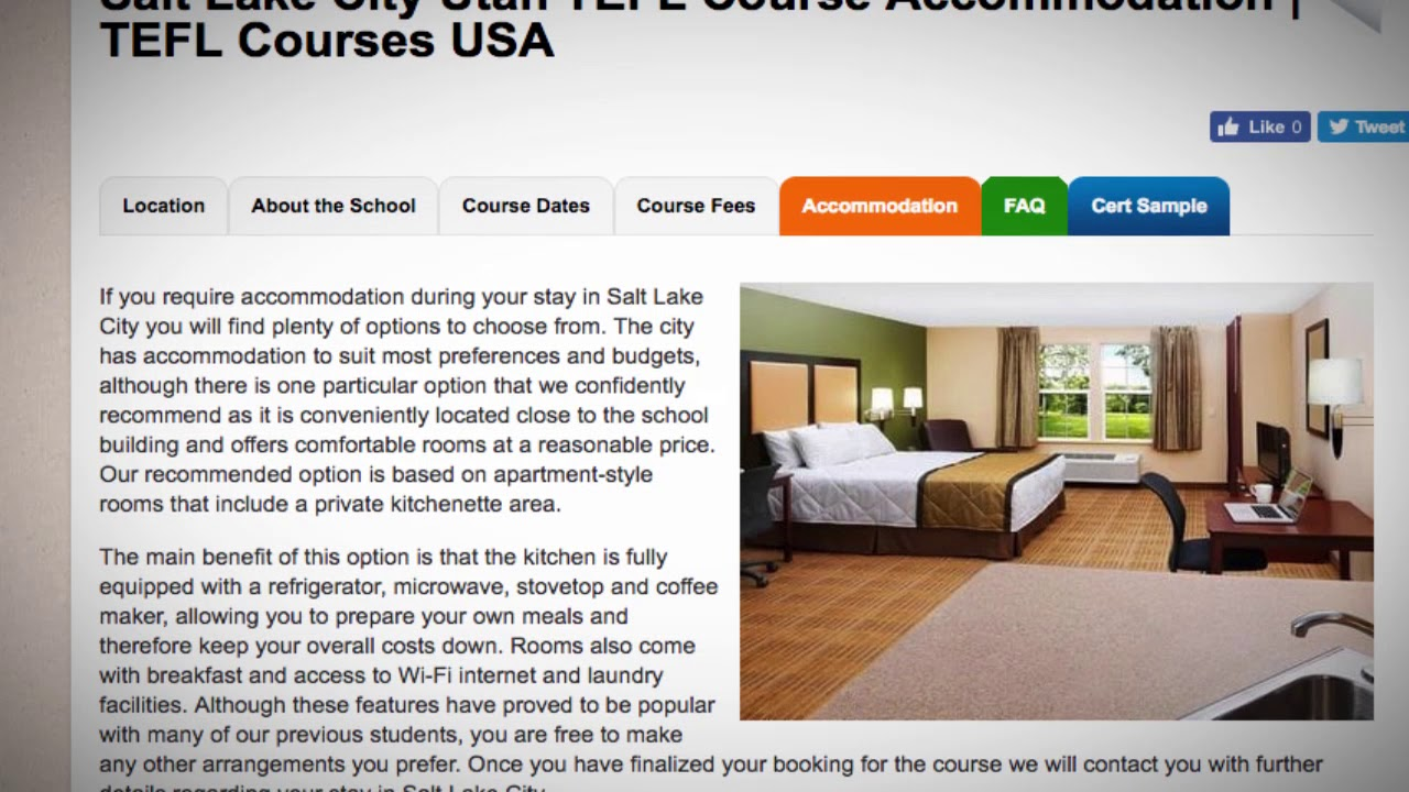 TEFL / TESOL School Accommodation in Salt Lake City, USA   Teach & Live abroad!1