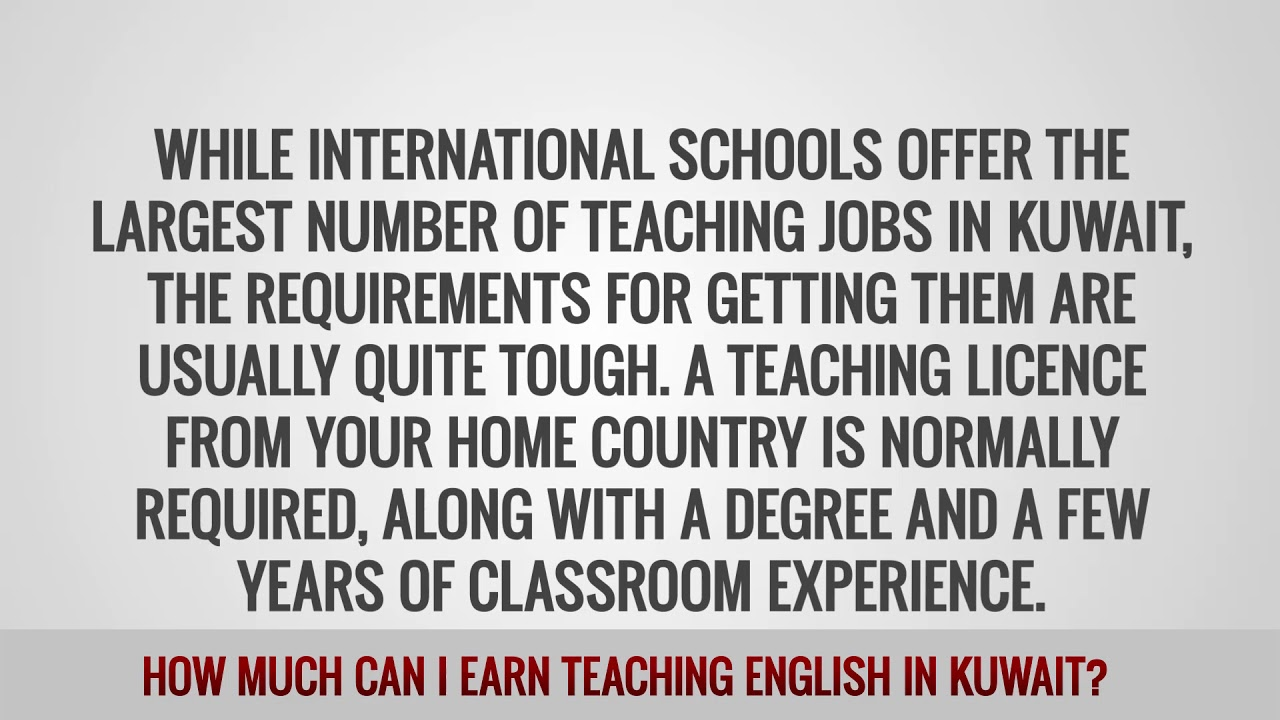 ITTT FAQs – How much can I earn teaching English in Kuwait