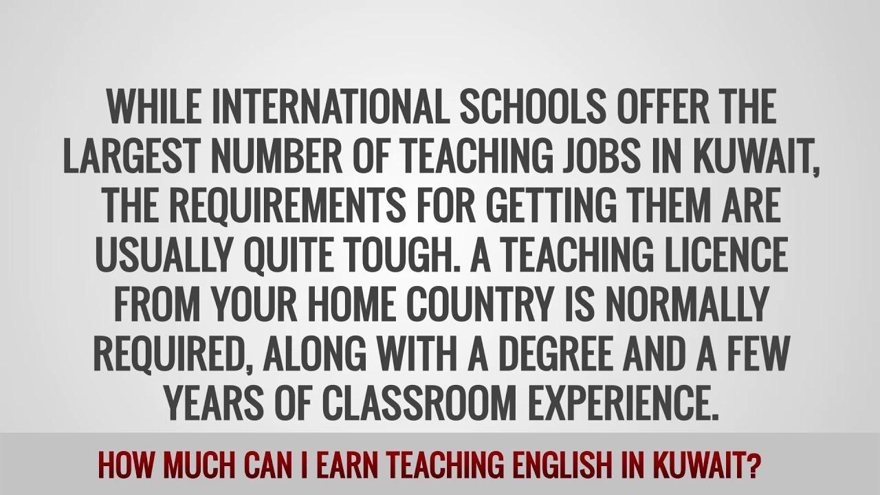 ITTT FAQs – How much can I earn teaching English in Kuwait