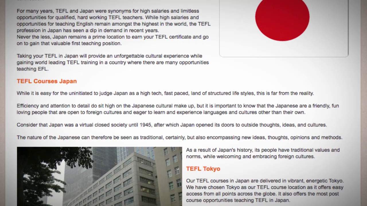 TESOL Course in Japan | Teach & Live abroad!