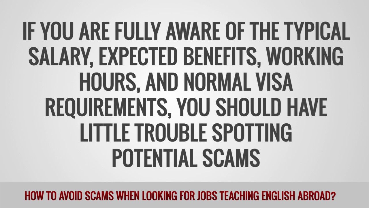 ITTT FAQs – How can I avoid scams when looking for TEFL jobs?