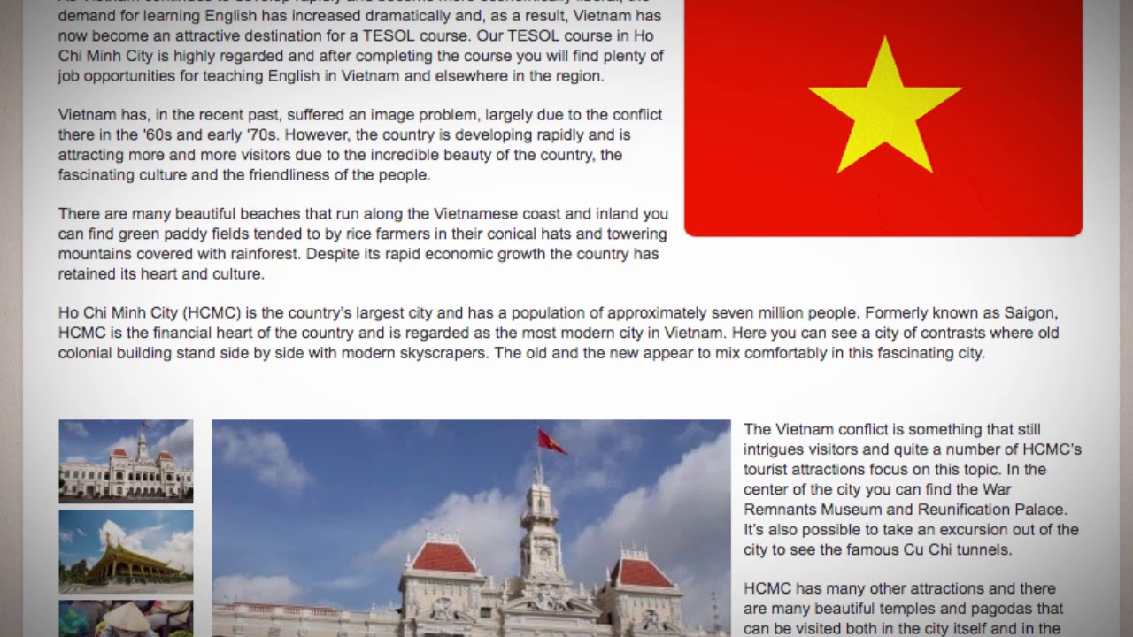TESOL Course in Ho Chi Minh City, Vietnam | Teach & Live abroad!