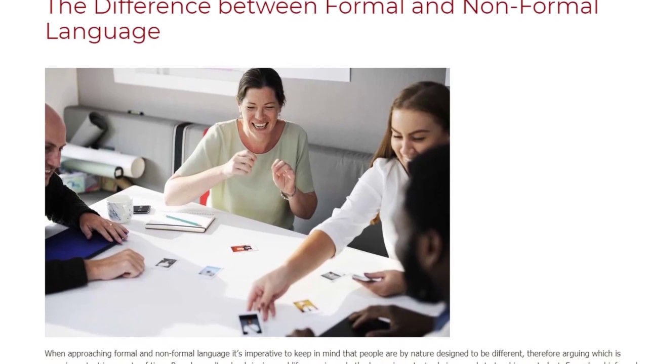 The Difference between Formal and Non-Formal Language | ITTT TEFL BLOG
