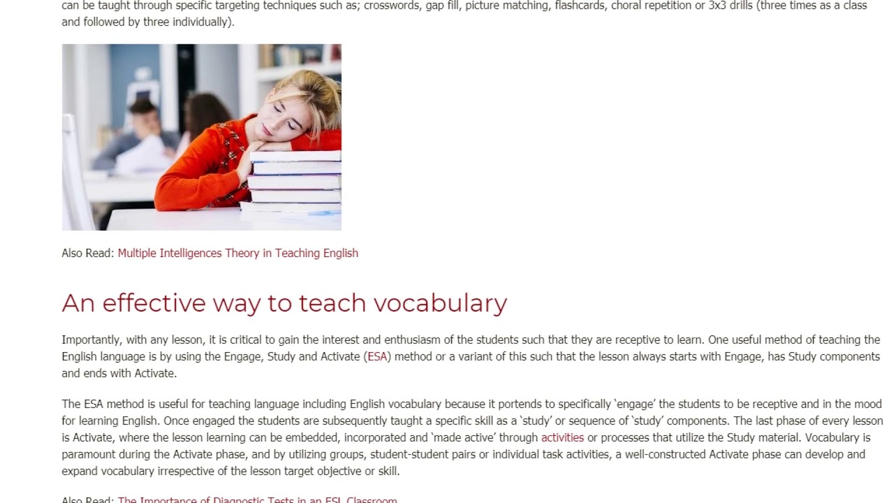 Teaching Vocabulary: Is it Essential for English Learning | ITTT TEFL BLOG