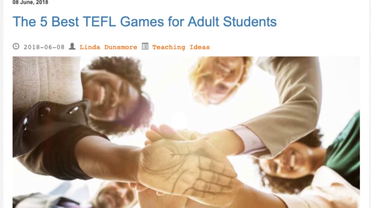 The 5 Best TEFL Games for Adult Students | ITTT TEFL BLOG
