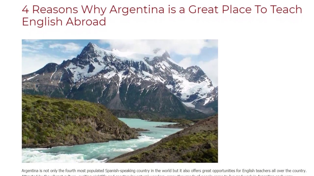 4 Reasons Why Argentina is a Great Place To Teach English Abroad | ITTT TEFL BLOG