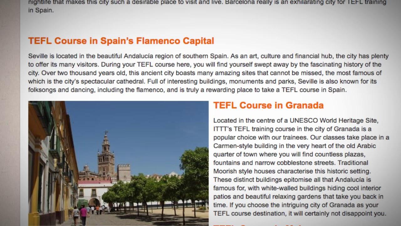 TEFL / TESOL Course in Spain   Teach & Live abroad!