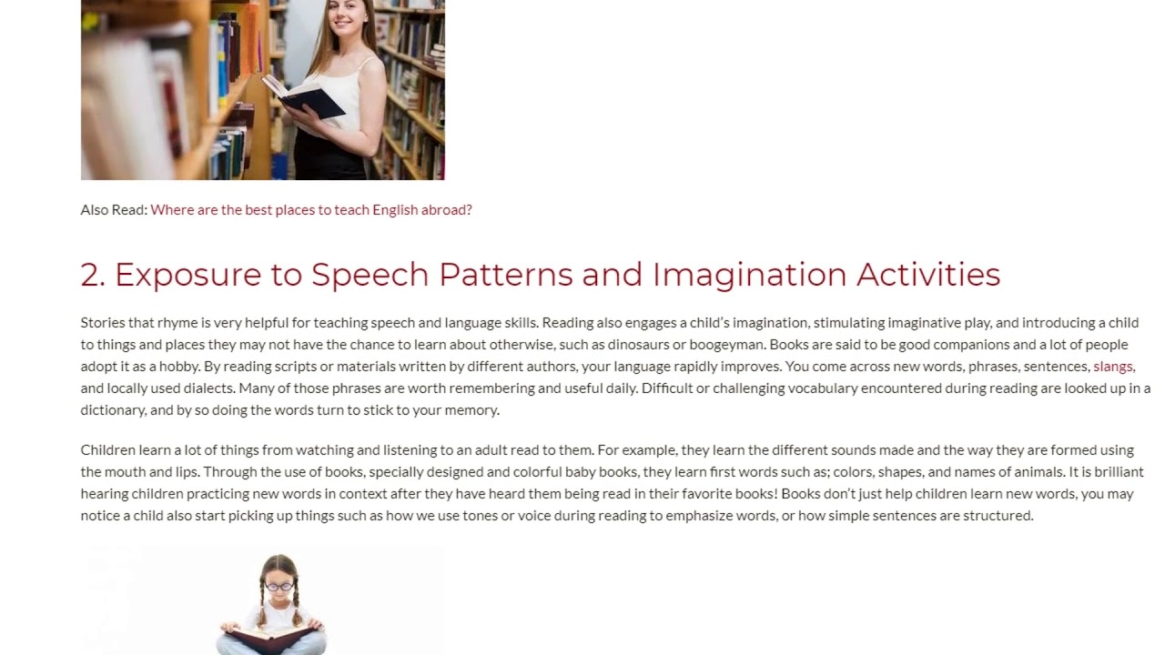 3 Reasons Why Reading Boosts Language Acquisition   ITTT TEFL BLOG