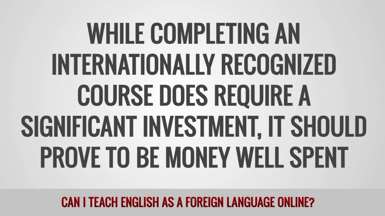 ITTT FAQs – Can I teach English as a foreign language online?