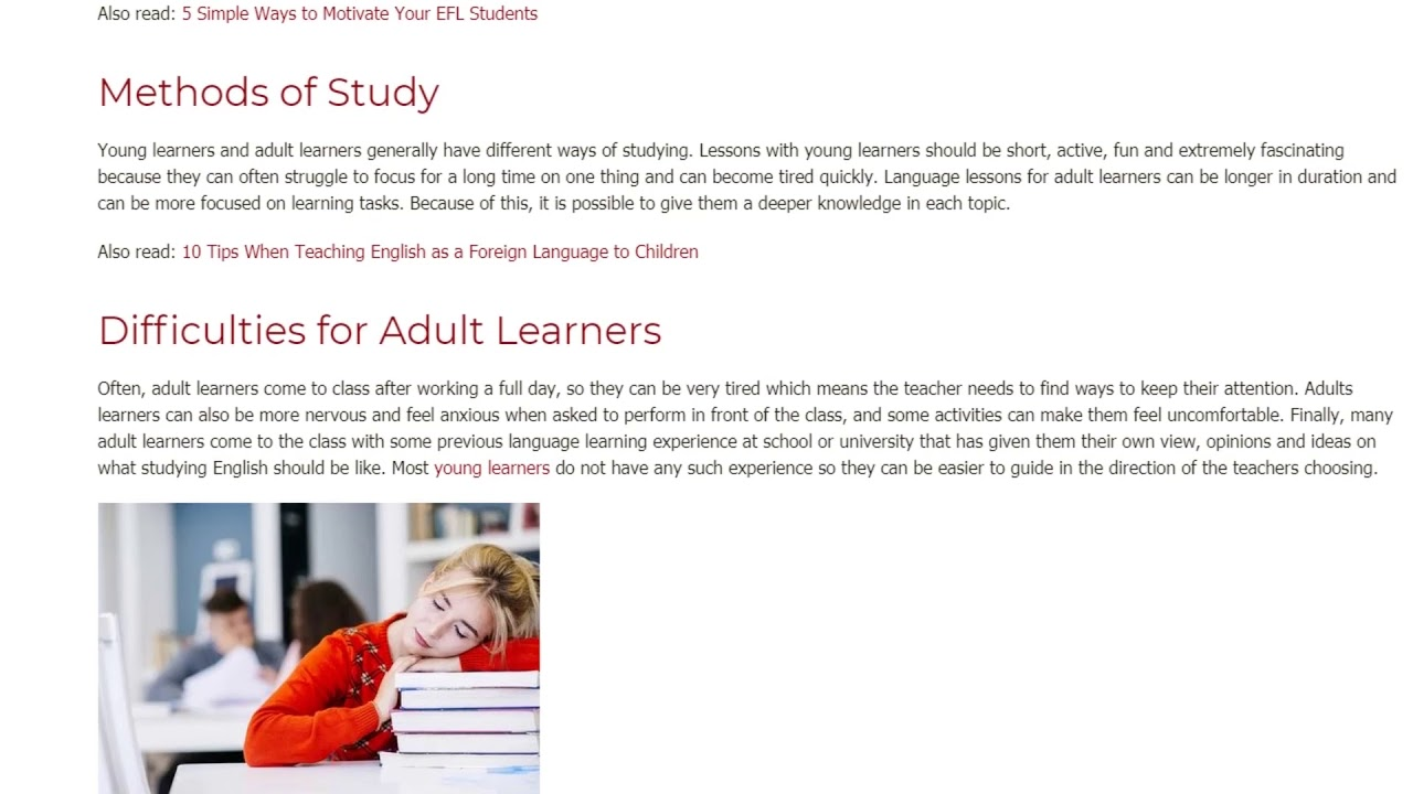 Teaching Young Learners vs. Adult Learners – The Differences You Can Expect | ITTT TEFL BLOG