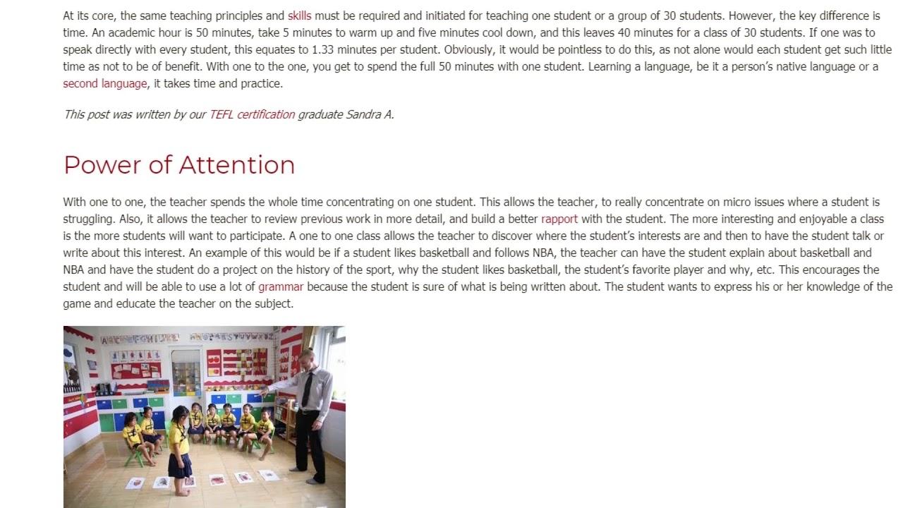 Is Tutoring Better Than Teaching a Group | ITTT TEFL BLOG