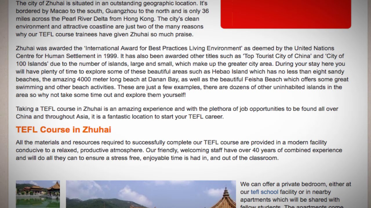 TEFL / TESOL Course in Zhuhai, China | Teach & Live abroad!