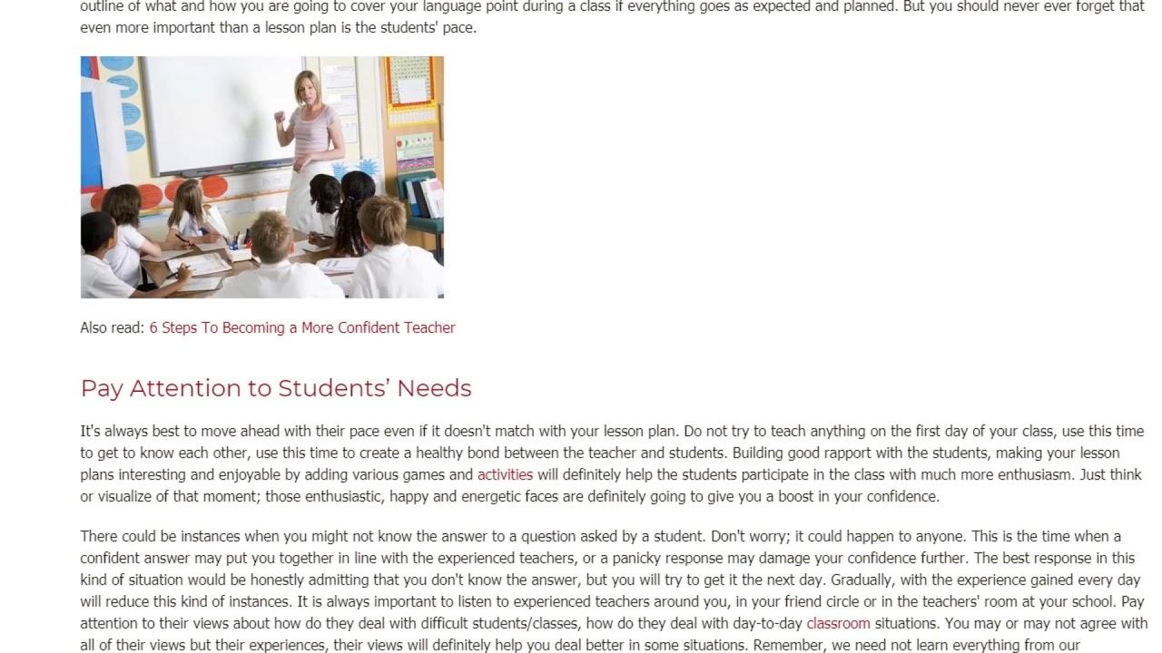 How Teachers Can Increase Their Confidence in The Classroom | ITTT TEFL BLOG