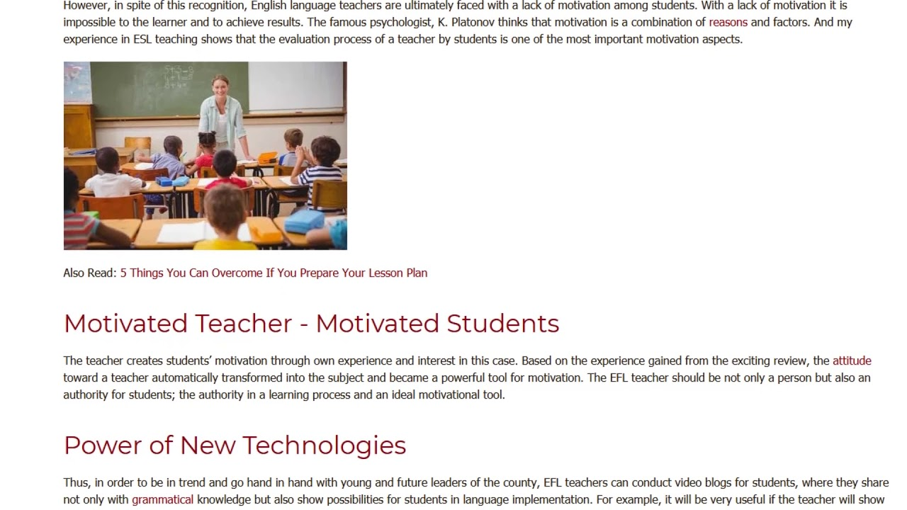 One More Look at Ways to Encourage EFL Students to Enjoy Learning   ITTT TEFL BLOG